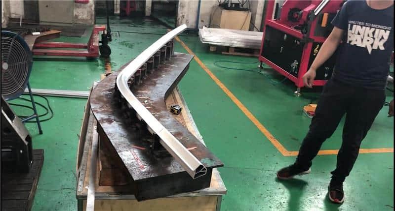 Car A-pillar Aluminum Profile Roll Bending Machine
