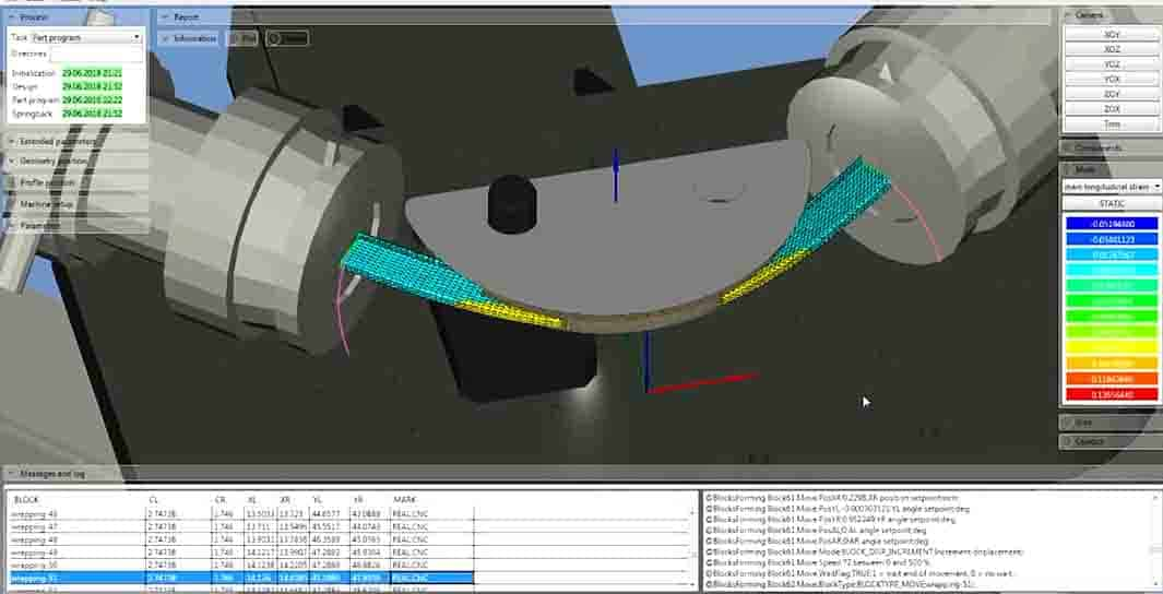 CAE analysis for CNC stretch forming machine