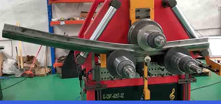 profile tube pipe roll bending machine